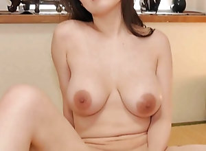 Big Tits Japanese MILF uses Dildo
