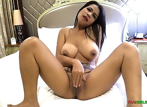 Big titty Asian hooker takes her customer's man sausage nice deep