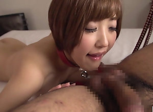 Japanese spliced Asahi Mizuno inclined blowjob increased by handjob