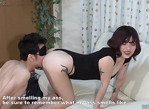 Japanese unspecified makes a sponger salute the smell be worthwhile for her ass hole