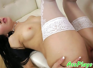 Asian girl assfucked on the couch