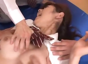 Horny Japanese carve Kana Yuuki in outsider Facial, Cumshots JAV video