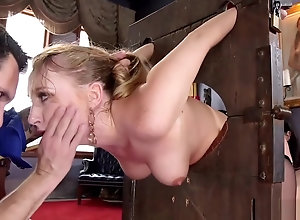 Asian maid coupled with peaches fucked roughly bdsm
