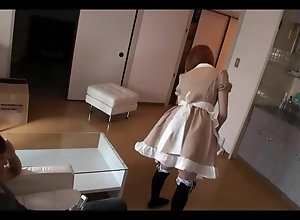 Japanese house maid fucked to an orgasm