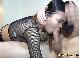 My fuckpole Deep In Her Asian Throat