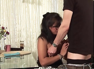 Mature japanese Housewife On someone's skin Table
