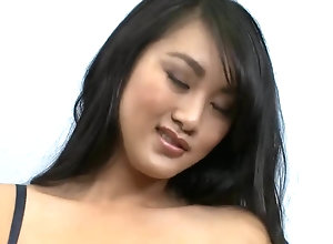 Asian bimbo Sucks and Fucks Thick milky Cock