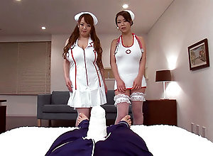 Sex cure-all With Nurse Hitomi together with Ria Sakuragi