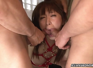 Squirting Asian is required up and used in a threesome