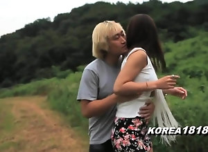 KOREA1818.COM - Horny Korean honey Outside