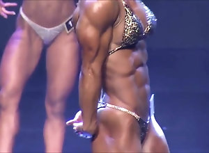 Sexy korean bodybuilder goddess